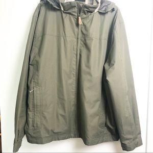 London Fog Zip Front Jacket With Hidden Hood XXL
